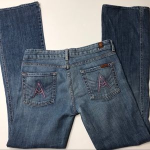 7 for all mankind A pocket bootcut jeans size 30